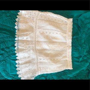 BB Dakota White Eyelet Skirt